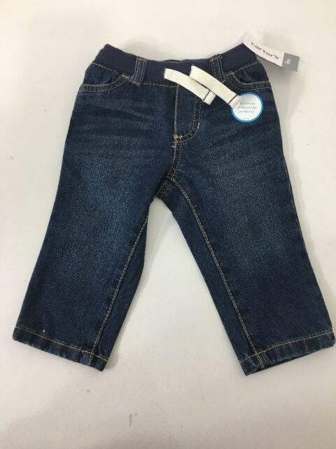 845897478 Carter s Infant Boys Pull on Jeans Denim Blue 9m for sale online