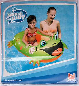 1 x Badeboote Badeboot Schlauchboot Kinderboot 99 x 66 cm Kinder Gummiboot Fro Spielzeug & Modellbau (Posten)