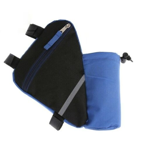 Bicycle Triangle Frame Front Tube Bag Saddle Bike Pouch Water Bottle Holder Pack