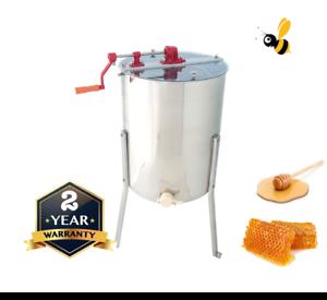 4-Frame-Honey-Extractor-Manual-Langstroth-Tangential-Stainless-Steel-Spinner