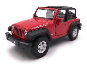 Modellino-Auto-Jeep-Wrangler-Rubicon-SUV-Rosso-Cabrio-Auto-Scala-1-3-4-39