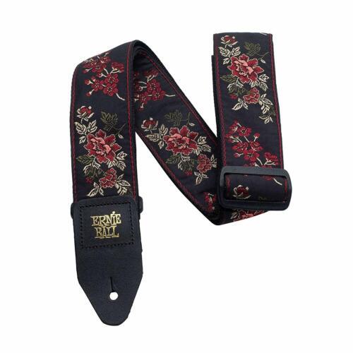 Ernie Ball Red Rose Jacquard Guitar Strap P04142