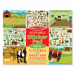 Melissa-amp-Doug-Reusable-Sticker-Pad-Farm-Kids-Art-amp-Craft-Educational-Toy