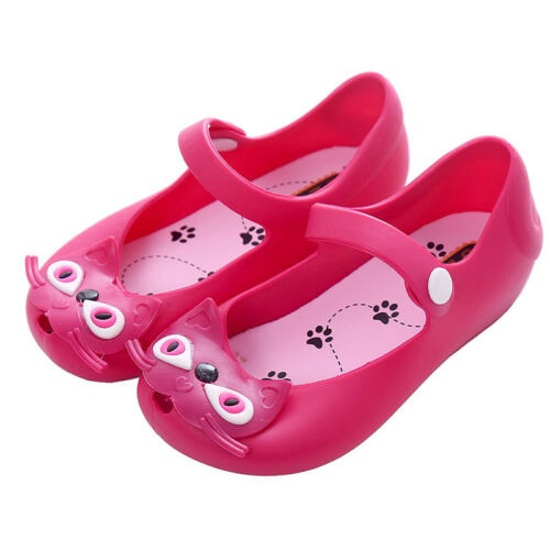 Girls Boys Children Mickey Minnie Mouse Cat Kids Sandals Flats Jelly Shoes Sizes