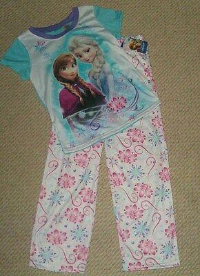 Disney Frozen Anna & Elsa Pajama Set Size 10/12 NWT New Style, Great Gift Idea