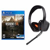 Plantronics GameCom P80 Wireless Bluetooth Gaming Headphones + Resident Evil 7 Biohazard