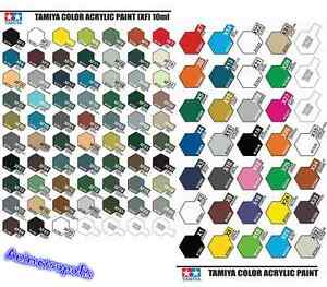 Tamiya-Color-X1-To-X35-Gloss-amp-XF1-To-XF86-Acrylic-Paint-Model-Kit-Authentic-New