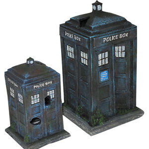 Police Box Aquarium Ornament Decor 2 Sizes Available