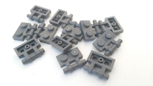 Grey Lego 1 x 2 Flat plate with Bar Blue BR057 Used condition 12x Dark