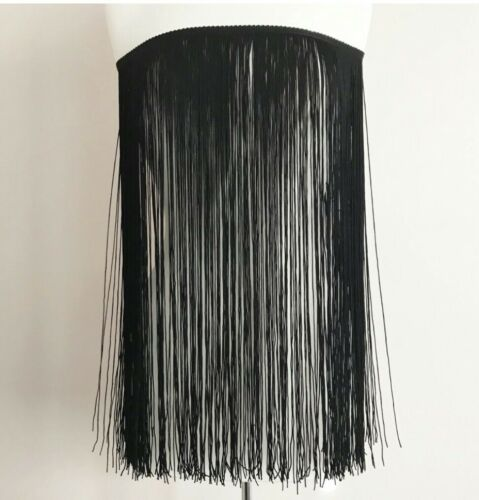 sold by yards chainette fringe trim 18 inches black