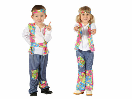 #1960s Hippy maschietto o femminuccia Bambini Costume Da Bambino WOODSTOCK Fancy Dress Party