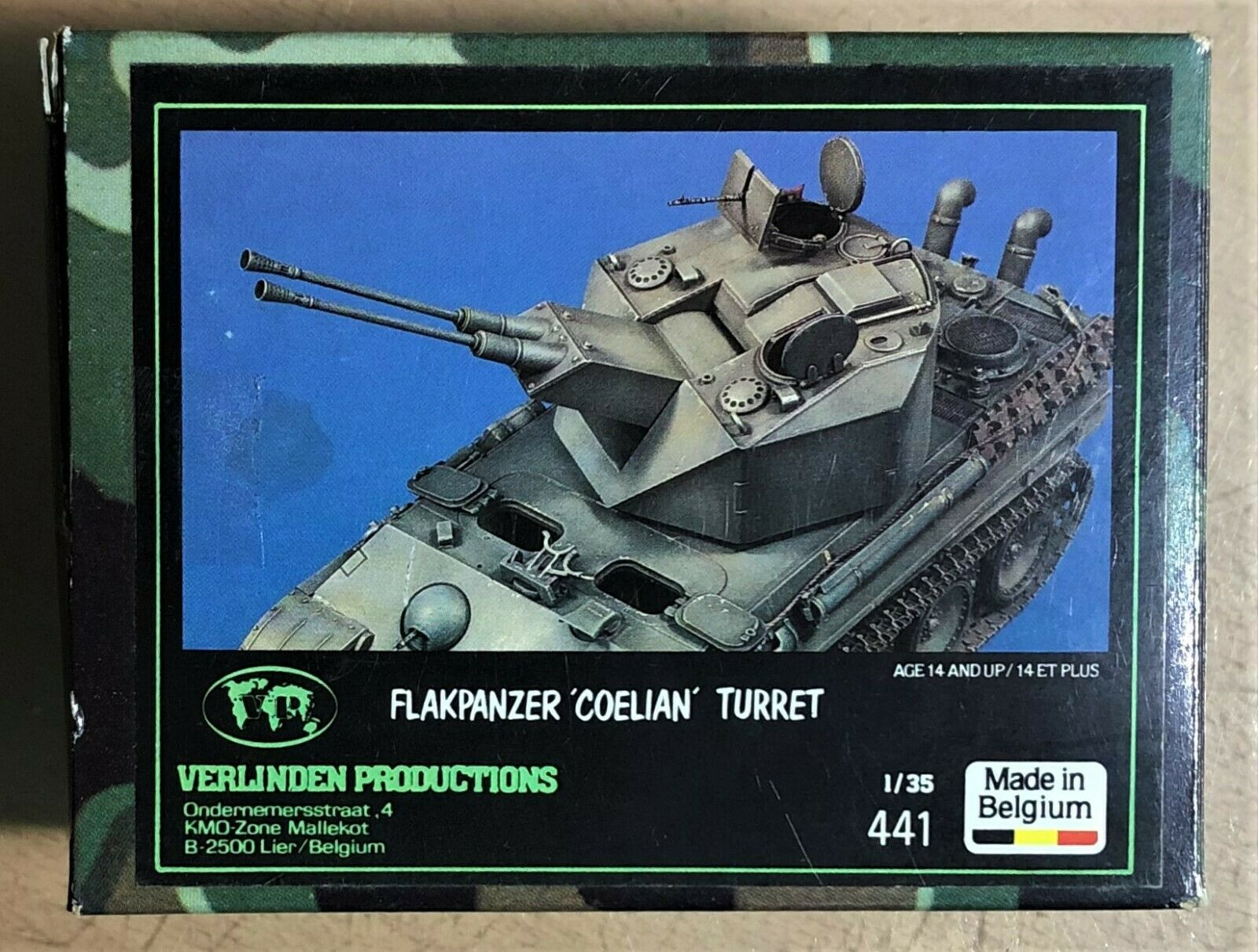 VERLINDEN PRODUCTIONS 441 - FLAKPANZER 'COELIAN' TURRET - 1 35 RESIN KIT