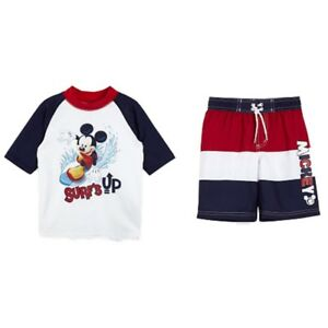 f03acb8c76 Mickey Mouse Clubhouse Infant Boys Surf's Up Rash Guard & Swim ...