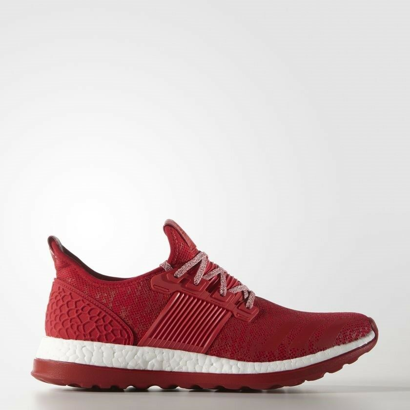 Adidas Pureboost ZG Mens Ruuning Shoes Red White Sneakers BA8453