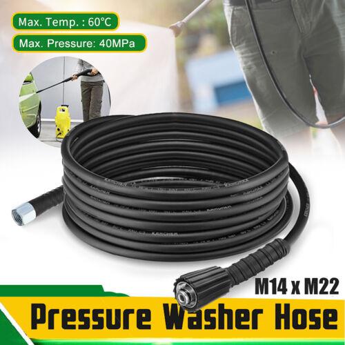 ✦ 33 ft 10M 5800PSI 14mm High Pressure Washer Hose Jet M14 X M22 Thread NEW