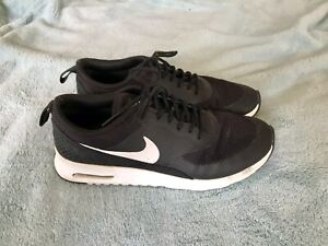Womens-NIKE-Air-Max-Thea-Running-Shoes-Black-White-599409-020-Size-8-5