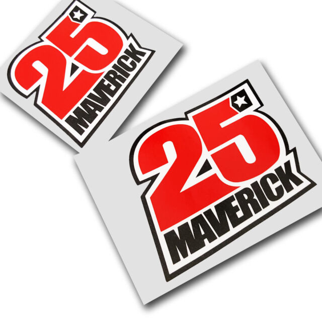 Maverick vinales 25 motorcycle decals custom graphics x 2 small