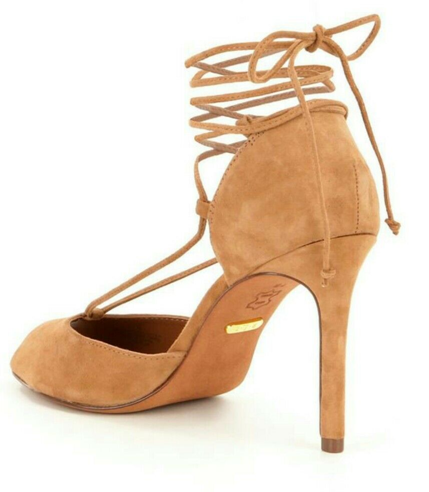 RALPH LAUREN Linden Suede Sandal Pump Camel Size 9.5 EU EU EU 40.5 MSRP  120 1347b3