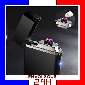 Briquet-Arc-Electrique-USB-Tempete-plasma-rechargeable-coupe-vent-sans-gaz-Noir