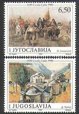 Yugoslavia 1990 Church/Buildings/Horses/Animals/Transport/Art/Painting 2v n37759