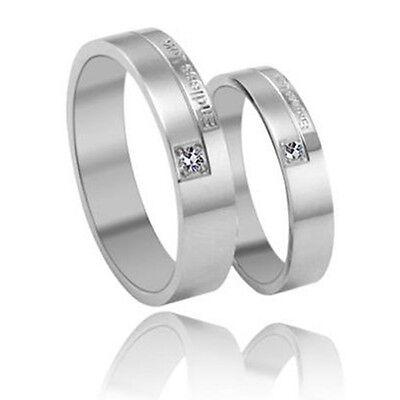 Endless love Titanium Steel Promise Ring Couple Wedding Bands Many Sizes J68
