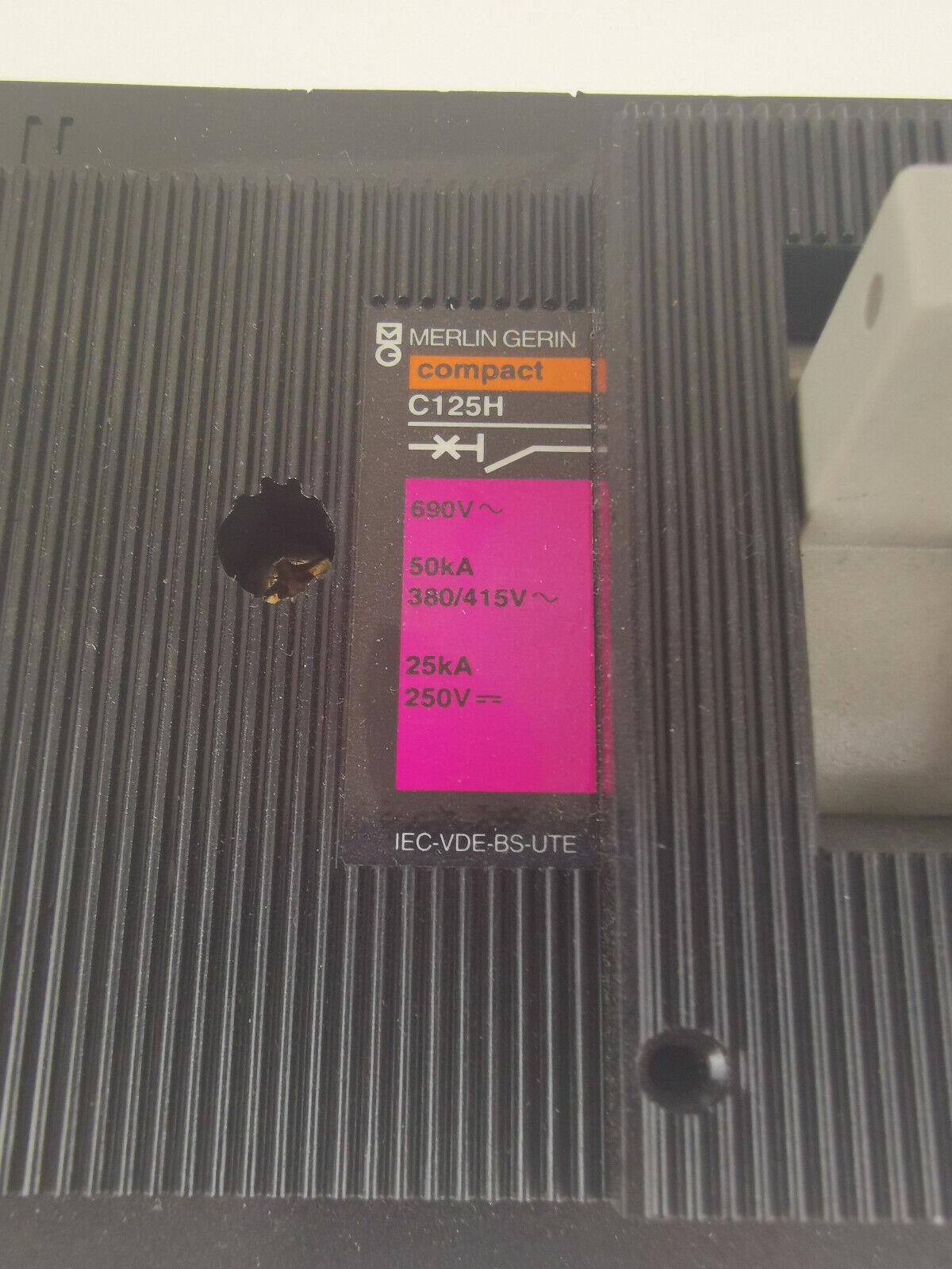 Image 6 - Merlin Gerin Schneider C125H 63A Power Switch 41379