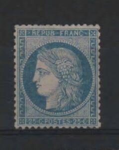 FRANCE-YVERT-60-A-SCOTT-58-034-CERES-25c-BLUE-1871-034-MNH-VVF-R254