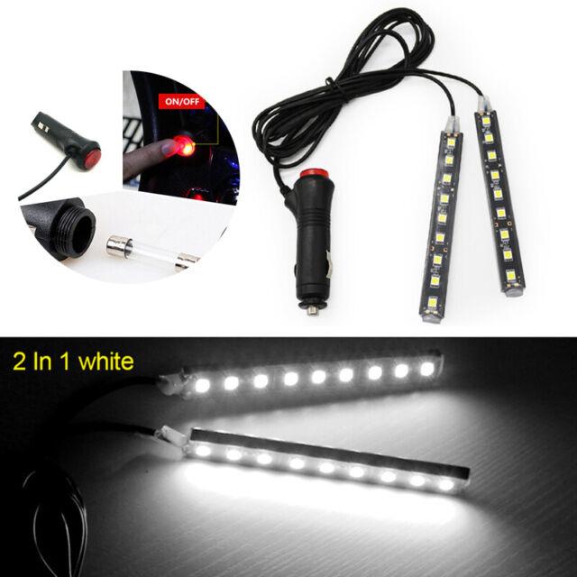 4x 9 LED Car Interior Lights Footwell Strip Light Atmosphere Decoration Lamp UK