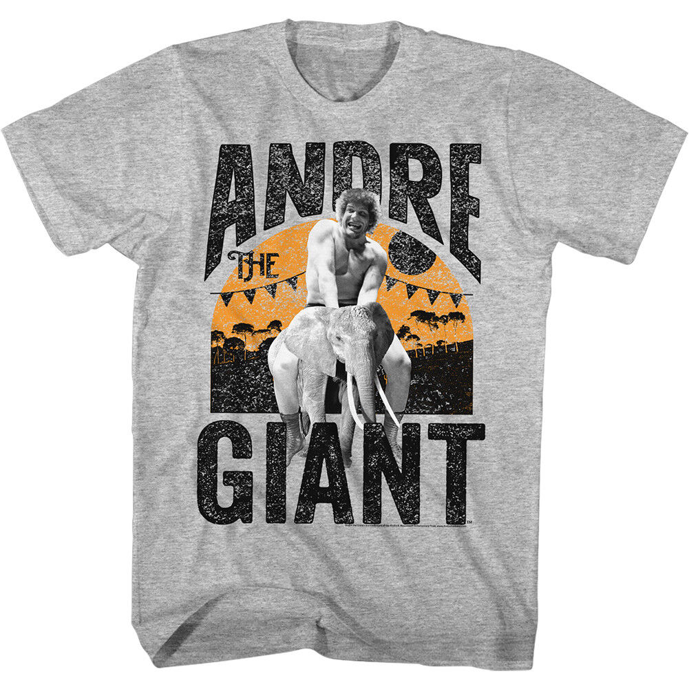 514501036520a Andre The Giant Wrestling T-Shirt 100% Licensed ELEPHANT RIDE Tee Sizes SM -