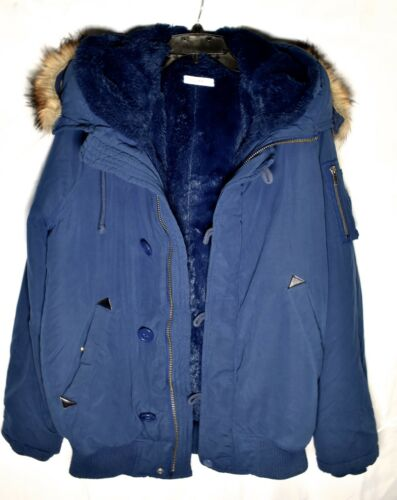 Polyester 100 brugt size Hood Women's With Coat Moussy Blue 2 SwFq8AH