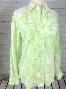 49b8c8bc8 RALPH LAUREN Bright Floral Blouse Button Down Top Women s Shirt M ...
