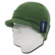 ed0c847eed12e9 Army Green Military Jeep Beanie Cap Knit Winter Hat Radar Style Jeep Ski  Brimmed