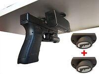 Gun Magnet Adhesive Backing Car Steering Wheel Holster Pistol Vehicle Mount 2pcs