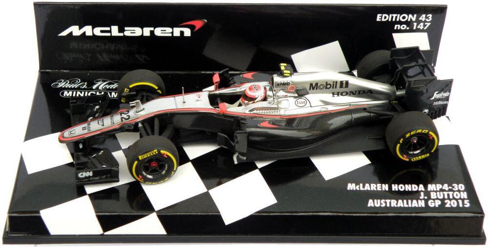 Minichamps McLaren Honda MP4-30 Australian GP 2015 - Jenson Button 1 43 Scale