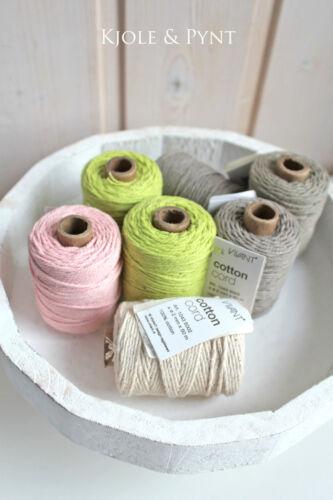 50m Cotton Cord Ø 2mm Baumwollkordel Vivant Lila 30 Bakerstwine Twine 0,10€//m