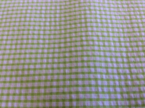 FABRIC FINDERS LIME GREEN GINGHAM SEERSUCKER 60 INCH WIDE  BY THE YARD