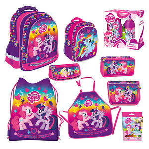 Image Is Loading My Little Pony Backpack Filled Double Pencil Case