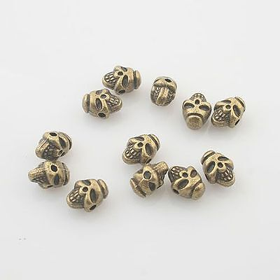 6mm 8mm 10mm Atq Bronze Gold Silver Flower Bead Caps Jewelry Making Crafts