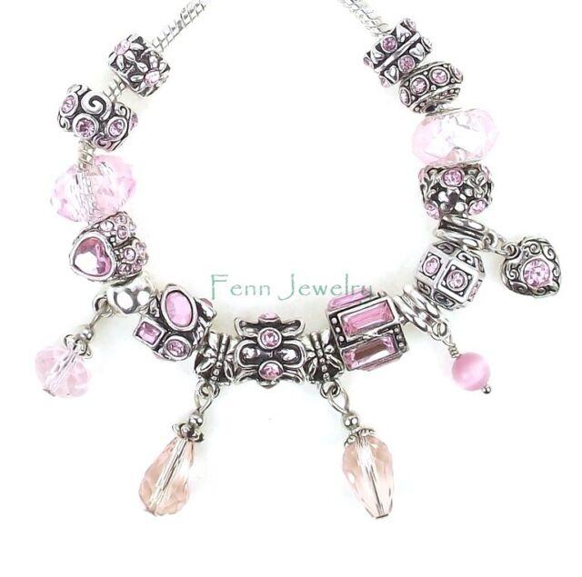 Husband Heart Pendant And Birthstones For Large Hole European Charm Bracelets