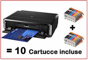 STAMPANTE-CANON-PIXMA-IP7250-IP-7250-FRONTE-RETRO-CD-DVD-CON-10-CARTUCCE-XL-WIFI