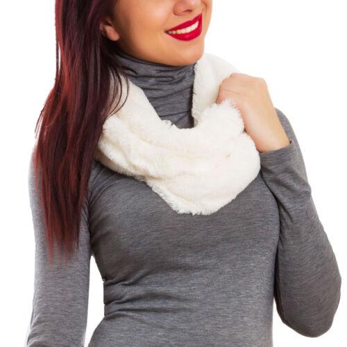 Sciarpa donna scaldacollo anello morbida fascia eco pelliccia pelo calda JY-12