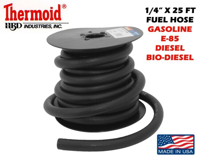 "1/4""x 25ft THERMOID FUEL GASOLINE LINE NEW GAS E-85 DIESEL BIO DIESEL COMPATIBLE"