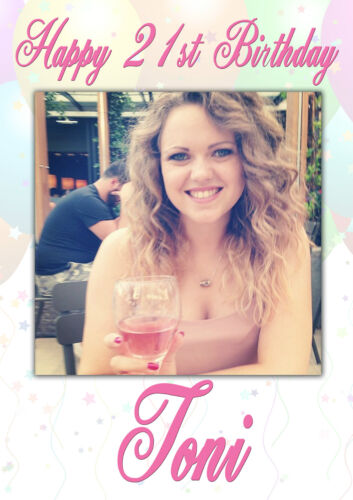 18th 21st 30th 40th 50th 60th Personalised Gloss Photo Party Banner Birthday