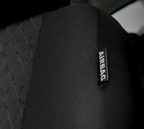 Universal Seat covers full set fits  VW Polo  black//grey