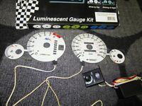 1997-2001 Automatic Transmission Honda Prelude White Face Glow Gauges Kit
