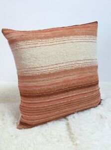 Retro-Cushion-Cover-18-034-x18-034-Original-60s-70s-Fabric-Striped-Pink-Cream