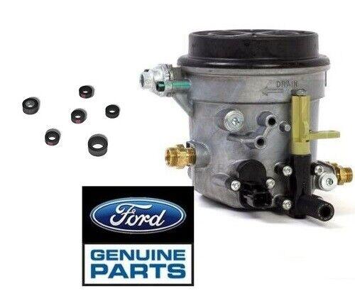98-03 ford 7.3l oem fuel filter housing assembly & o-ring kit (3106/3908) |  ebay  ebay