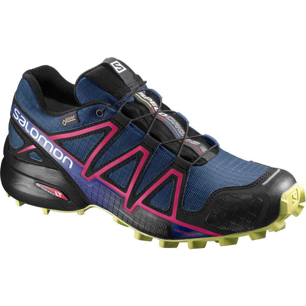 shoes TRAIL RUNNING women SALOMON SPEEDCROSS 4 GTX W Poseidon Virtual Pink