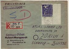 Alliierte Besetzung 962 Eckrand EF Bogenecke 5 Mark Taube R Zettel 20.4.48