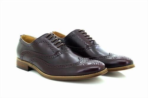 Mens Goor M9556 Signature Wing Cap Brogue Oxford Shoes